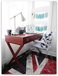 Threshold Campaign Desk Black by Little Man U0027s Playroom Reveal U2014 Classy Glam Living