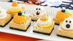 Pumpkin Swirl Cheesecake Bars by Pumpkin Cheesecake Bars And A Halloween Party Life Love And Sugar