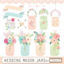 Wedding Clipart Pack WEDDING FLORAL Digital Clip ArtVintage Flowers Floral FramesWreathWedding InvitationInstant Download Wd067