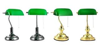 Bankers Lamp Green Glass Shade by Antique Desk Lamp Green Glass Shade Desk Old Green White Cased