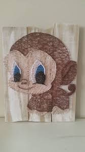 Big Eyes Monkey String Art Check Us Out On Facebook At All Strung Up