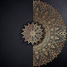 forwall fototapete vlies tapete wanddeko mandala orient schwarz gold moderne wanddekoration wandtapete vliestapete 13504v8 368cm x 254cm