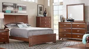 Rooms To Go Queen Bedroom Sets by Belcourt Cherry 5 Pc Queen Sleigh Bedroom Queen Bedroom Sets