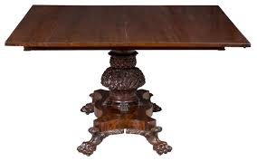 Federal Monumental Pedestal Classical Mahogany Dining Room Table Philadelphia For Sale