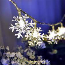 AC220V 10M 50LED Christmas lights snowflake lamp holiday lighting