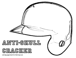 Coloring Page Batters Helmet At YesColoring Free Kids Sheet Baseball Catchers