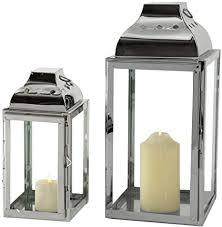 2er set innen außen laternen balkon windlichter eisen silber glas tür wohnzimmer dekoration
