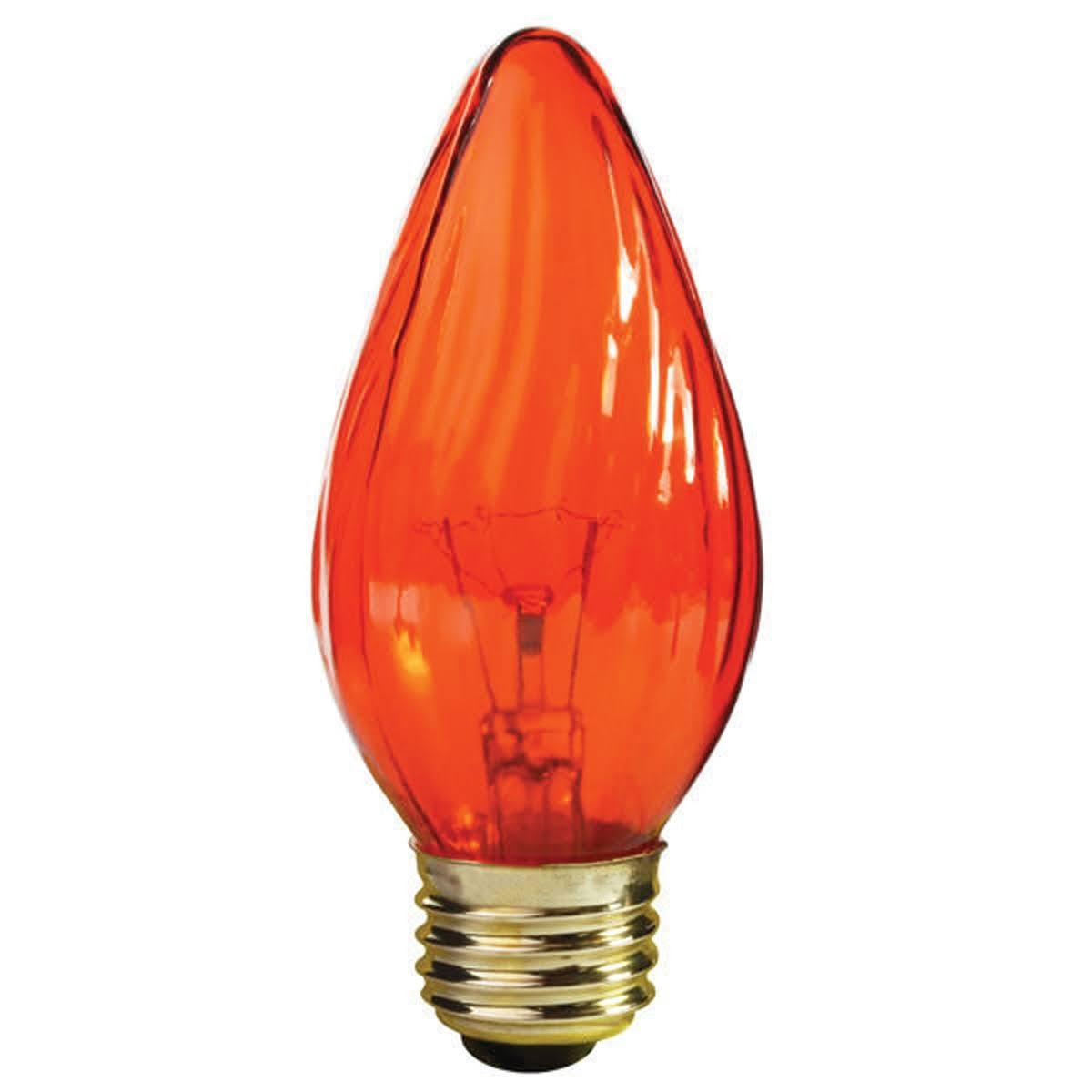 Satco Medium Base Amber F15 Light Bulb - 120V, 25W