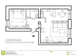 100 House Design Project Architectural Plan Of A Layout Of The Apartment Top