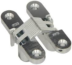 Barton Single Control Pull Out by Soss Mortise Mount Invisible Hinge With 4 Holes Zinc Satin