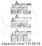 Clipart Food Cans In Color And Black And White Royalty Free Vector Illustration