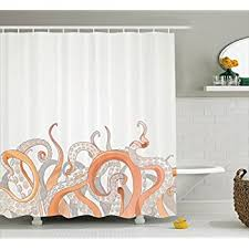 Amazon Octopus Shower Curtain Nautical Decor by Ambesonne