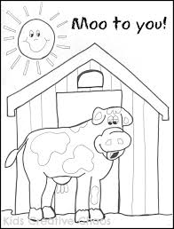 Cow Coloring Page To Use With Big Red Barn Activity Click Here For Printable Farm Sheet Moo You