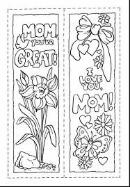 Outstanding Mothers Day Coloring Bookmarks With Pages And Online