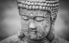 Download Weathered Buddha Black And White
