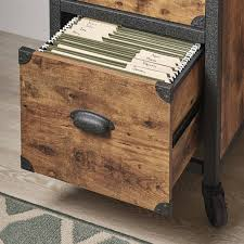 Lorell File Cabinet 3 Drawer by File Cabinet 2 Drawer Rustic Wood Metal Country Industrial Home