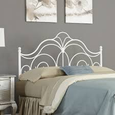 Wrought Iron And Wood King Headboard by Snow White Bedroom Accented By A Wrought Iron Headboard Regarding