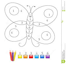 Picture Color By Number Butterfly