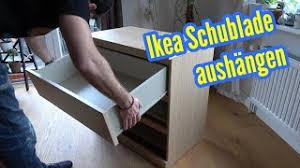 ikea schublade ausbauen schubladen aushängen herausnehmen