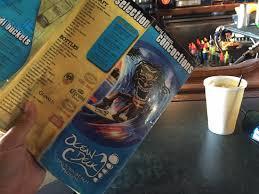 drink menu picture of ocean deck restaurant beach club