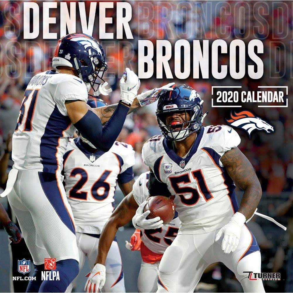 Not Avail 2020 Denver Broncos Mini Wall Calendar