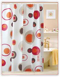 Orange Circle PEVA Shower Curtain WY2505 Wholesale Faucet E merce