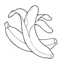 Coloriage Banane à Imprimer