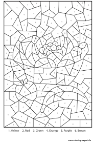 Color Number For Adults Fruits Printables Coloring Pages Printable Numbers Kids By Multiplication Medium Free Mosaic