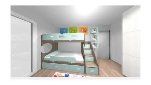 chambre avec lit superposé chambre enfant avec lit superposé 2 coffres personnalisée pour mme