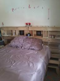 Bamboo Headboard And Footboard by Wooden Pallet Bed With Storage Friendly Headboard Tikspor