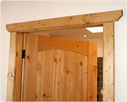 Rustic Western Door Casing With Clipped Corners