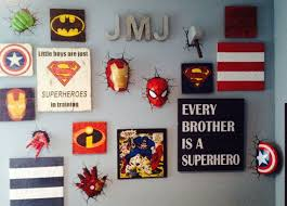 Superhero Comic Wall Decor by Sumptuous Design Marvel Wall Decor With Art Etsy Decoration