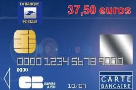 23e la banque postale avec une carte bleue visa ou mastercard à