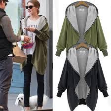 ladies casual jacket long sleeve hoodie coat top hooded jumper