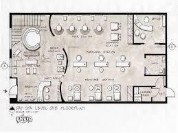 Salon Floor Plans Day Spa Level Design