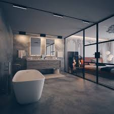 Luxurious And Spacious Master Bathroom On A Small Footprint