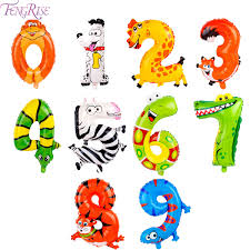FishMM 21pcs Cute Zoo Animal Cupcake Toppers PicksJungle Animals