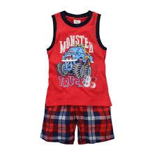 100 Monster Truck Pajamas Amazoncom Hooyi Baby Boy Sleepwear Cotton Children Sleeveless