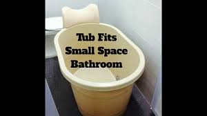 Portable Bathtub For Adults In India by Small Portable Bathtub Soak Spa Youtube