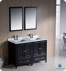 Double Sink Vanity Home Depot Canada by Fresca Oxford 48 Inch W Double Sink Vanity In Espresso Finish With