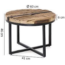 finebuy design couchtisch ballari 60 x 46 x 60 cm rund