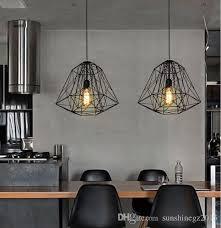 großhandel vintage nordic industrial style hive metallkäfig pendelleuchte kronleuchter wohnzimmer bar loft pendelleuchte sunshinegz2015 87 04