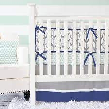 mint navy arrow crib bedding set by caden lane rosenberryrooms com