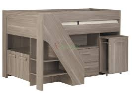 Low Loft Bed With Desk Underneath by Bunk Beds With Storage And Desk Latitudebrowser
