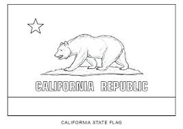 California Flag Coloring Page Of Republic
