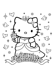 Hello Kitty Happy Birthday Coloring Pages Download