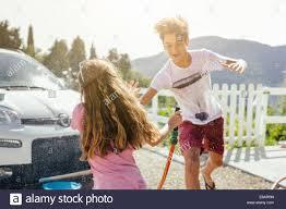 Boy Washing Car Stock Photos & Boy Washing Car Stock Images - Alamy