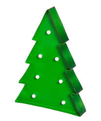 Light Up Christmas Tree Outdoor Wall Decor