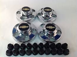 Set 4 Chevy Silverado 1500 Factory OEM Wheel Center Caps Lug Caps ...
