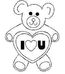 Valentines Day Coloring Pages Bear Love Pictures Of Lovebirds Bible Your Neighbor Hearts Medium Size